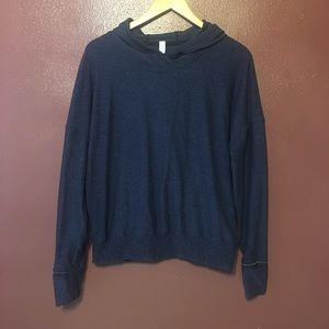 Navy blue Lululemon hoodie sweater